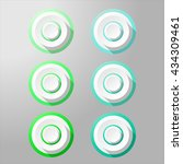loudspeaker buttons with... | Shutterstock .eps vector #434309461