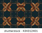 abstract ornamental background. ... | Shutterstock .eps vector #434312401