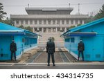 panmunjeon  south korea   april ... | Shutterstock . vector #434314735