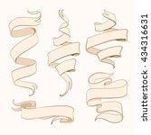 hand made chicano ribbon set  | Shutterstock .eps vector #434316631