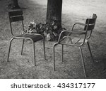 dialogue. two chairs facing... | Shutterstock . vector #434317177