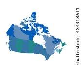 canada political vector map | Shutterstock .eps vector #434318611