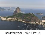 Aerial view of Sugar Loaf in Rio de Janeiro Brazil