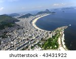 Aerial View Of Copacabana Beach ...