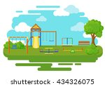 playground flat icons set with... | Shutterstock .eps vector #434326075