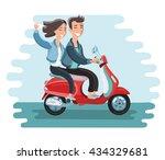 vector illustration of happy...   Shutterstock .eps vector #434329681