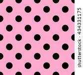 seamless polka dot pattern.... | Shutterstock .eps vector #434331175