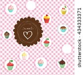 checkered background and retro...   Shutterstock .eps vector #434333371