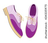 violet shoes decorated with...   Shutterstock .eps vector #434335975
