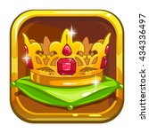 store icon with golden crown on ...