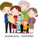 happy family | Shutterstock .eps vector #43434085