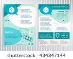 gambling dice sign on vector... | Shutterstock .eps vector #434347144