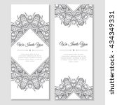 set of cards or banners with... | Shutterstock .eps vector #434349331