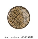 brown button isolated | Shutterstock . vector #43435402