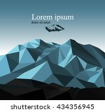 vector snow mountains peak... | Shutterstock .eps vector #434356945