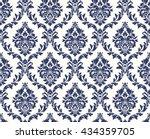 vector seamless floral damask... | Shutterstock .eps vector #434359705