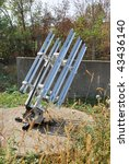 anti hail rocket launcher at... | Shutterstock . vector #43436140