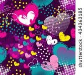 grunge seamless pattern for... | Shutterstock .eps vector #434363185