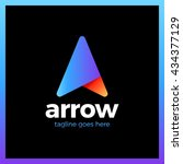 arrow up letter a vector logo.... | Shutterstock .eps vector #434377129