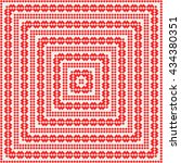 pattern with symmetric... | Shutterstock .eps vector #434380351