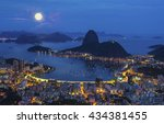 night view with moon of... | Shutterstock . vector #434381455