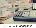 close up one cash register with ... | Shutterstock . vector #434389909