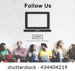 follow us social media... | Shutterstock . vector #434404219