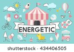 children kids energetic youth... | Shutterstock . vector #434406505