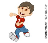 boy with red shirt and blue... | Shutterstock . vector #434408719