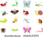 insect cartoon collection   Shutterstock .eps vector #434415595
