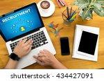 recruitment male person sitting ... | Shutterstock . vector #434427091
