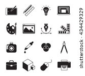 graphic and web design icons... | Shutterstock .eps vector #434429329
