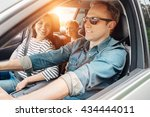 family into the car | Shutterstock . vector #434444011