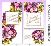 romantic invitation. wedding ... | Shutterstock . vector #434444701