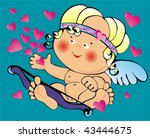 small cupid | Shutterstock .eps vector #43444675