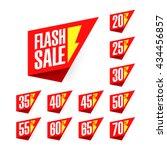 flash sale discount labels... | Shutterstock .eps vector #434456857