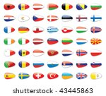 europe state flags | Shutterstock . vector #43445863