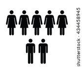 people icon   men   women vector | Shutterstock .eps vector #434458945