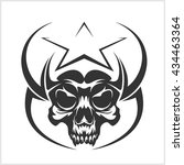 star with skull   abstract... | Shutterstock .eps vector #434463364