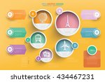 travel info graphic design... | Shutterstock .eps vector #434467231