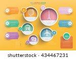 travel info graphic design... | Shutterstock .eps vector #434467231