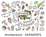 set of cute hand drawn doodle | Shutterstock .eps vector #434469091