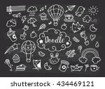 set of cute hand drawn doodle | Shutterstock .eps vector #434469121