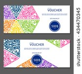 gift voucher. vector ... | Shutterstock .eps vector #434470345
