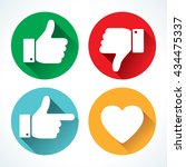yes or no icons | Shutterstock .eps vector #434475337
