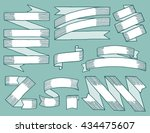 vintage ribbons drawn by hand ... | Shutterstock .eps vector #434475607