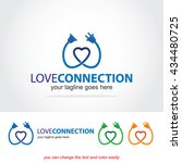 love connection abstract vector ... | Shutterstock .eps vector #434480725