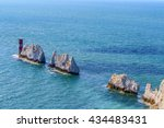 the needles in isle of wight | Shutterstock . vector #434483431