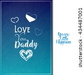 father's day. greeting card.... | Shutterstock .eps vector #434487001