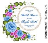 bridal shower invitation... | Shutterstock .eps vector #434487271